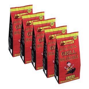 FAVORIT Qualitäts-Grill Holzkohle 12,5 kg