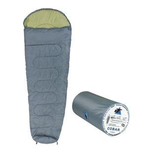 10T Schlafsack Cobar -11° 1050g leicht warm weich Mumienschlafsack 225x80 Grau/Grün 250g/m² waschbar