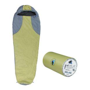 10T Schlafsack Gelar -5° 1000g leicht warm weich Mumienschlafsack 210x75 Grün/Grau 150g/m² waschbar