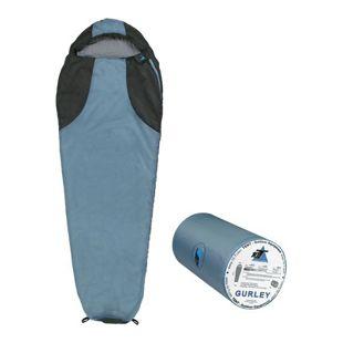 10T Schlafsack Gurley -10° warm weich 1200g leicht Mumienschlafsack 225x80 Blau / Grau 200g/m²