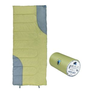 10T Hayley Schlafsack 190x80 cm Deckenschlafsack -7° Grün/Grau wasserabweisend warm