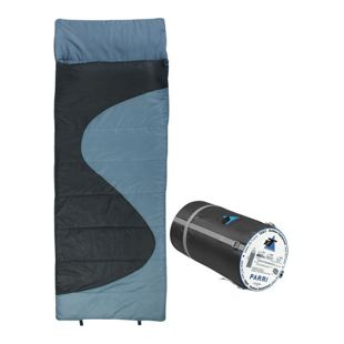 10T Schlafsack PARRI -10° warm weich 1600g leicht XL Deckenschlafsack 220x80 Blau / Grau