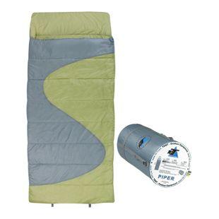10T Schlafsack PIPER -16° warm weich 2100g leicht XXL Deckenschlafsack 220x100 Grün / Grau 350g/m²