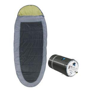 10T Schlafsack TIA -13° warm weich 2000g XXL Ei-Form Mumienschlafsack 240x100 Grau / Grün