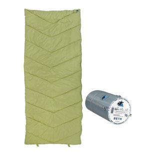 10T Schlafsack SETH -7° warm weich 1200g leicht Deckenschlafsack XL 200x80 Grün / Grau