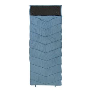 10T Burnum Schlafsack XXL 230x90 cm -11° Deckenschlafsack Blau Grau warm wasserabweisend waschbar