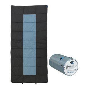 10T Brodie Schlafsack XXL 200x100 cm Deckenschlafsack Grau Blau -13° warm wasserabweisend waschbar