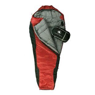 10T Schlafsack Innoko M -21° warm weich 2500g Mumienschlafsack 200x85 Rot / Schwarz 400g/m²