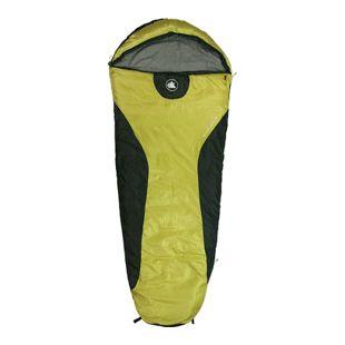 10T Schlafsack YUKON M -7° warm weich 1400g leicht Mumienschlafsack 200x80 Gelb / Schwarz 225g/m²