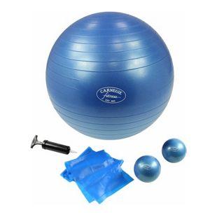 Carnegie Fitness Carnegie Pilates Set Toning Bälle 450g Pilates Band 120cm Gymnastikball ø 65cm, Ideal für zu Hause