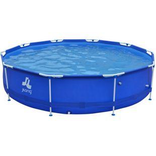 Jilong runder XL Family Pool Ø 360 x 76 cm Stahlrahmen Schwimmbad Garten Schwimmbad Familienpool