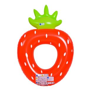Jilong Strawberry Ring XXL Schwimmring Wasserspielzeug aufblasbarer Poolsessel Erdbeere 167x116x32cm