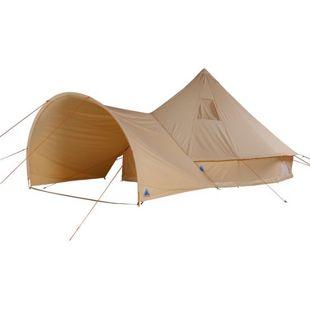 10T Camping-Zelt Desert 10+ wasserdichtes Familienzelt Tipi  aus Baumwoll-Mischgewebe + Sonnendach