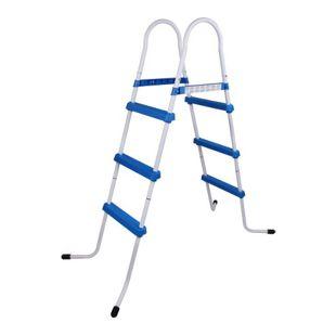 Blueborn Poolleiter PL109 Pooltreppe Schwimmbad-Leiter Pool Einstieg Leiter Treppe 109 cm Wandhöhe