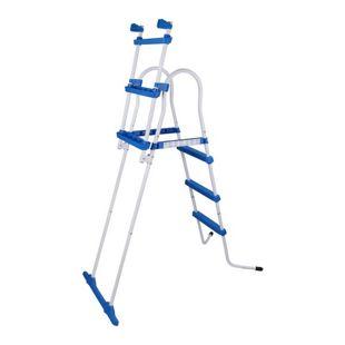 Blueborn Poolleiter SPL109 Pool Sicherheitsleiter Schwimmbad Einstieg Leiter Treppe 109 cm Wandhöhe