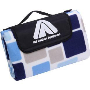 10T PicNic Cube XL Picknickdecke 200x200 Camping Fleece Decke wasserdichte & isolierte Stranddecke