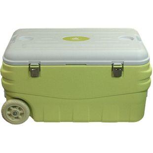 10T Kühlbox Fridgo 80L passive Thermobox PU Kühlbehälter warm / kalt XXL Isolierbox auf Rollen Grün
