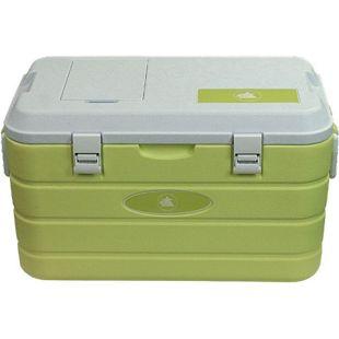 10T Kühlbox Fridgo 40L passive Thermobox PU Kühlbehälter warm / kalt Isolierbox + Deckel-Klappe Grün