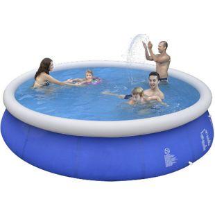 Jilong Marin Blue Rundpool Ø 450x90 cm Quick-Up Swimmingpool Pool Fast-Set Schwimmbad Schwimmbecken