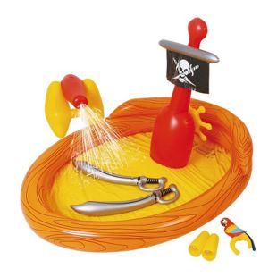 Jilong Pirate Spray Pool 187x136x114cm Kinderpool Planschbecken mit Wassersprüher & Wasserspielzeug