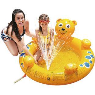 Jilong Bär Spray Pool 130x118x45 Kinderpool Planschbecken Schwimmbecken Wassersprüher Wasserspritze