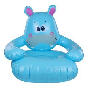 Jilong Hippo 78x70x66 cm Kindersessel Kinder Sitzsack Sitzkissen Kindersofa Stuhl Hocker aufblasbar