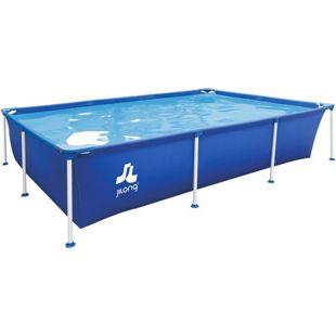 Jilong Familien Pool XXL Blau 258x179x66 Stahlrahmen Schwimmbecken Garten Schwimmbad Planschbecken