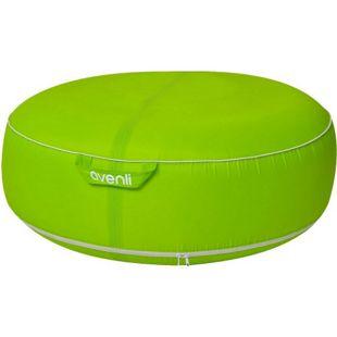 Avenli Pouf I Sitzkissen 98x38cm Sitzsack aufblasbar gewebeverstärkter Bezug wasserfest Outdoor grün