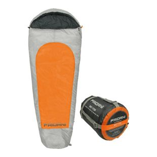 Fridani XL Kinderschlafsack MO 175x70 cm Mumienschlafsack -19°C Orange warm wasserabweisend waschbar