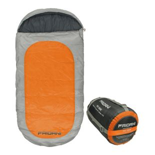 Fridani Kinderschlafsack PO 180x90cm XXL Deckenschlafsack -12°C Orange warm wasserabweisend waschbar