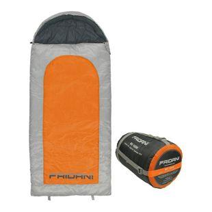 Fridani Kinderschlafsack BO 180x80cm XXL Deckenschlafsack -15°C Orange warm wasserabweisend waschbar
