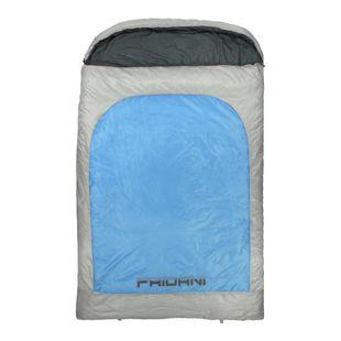 Fridani 2 Mann Schlafsack BB 235x150cm XXL Deckenschlafsack Blau -22°C warm wasserabweisend waschbar