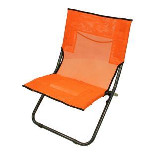 Fridani Strandstuhl BCO XL Campingstuhl Orange Klappstuhl + Tragegriff luftdurchlässiger Gartenstuhl