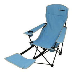 Fridani Campingstuhl FRB 105 Klappstuhl Blau Gartenstuhl mit Fußablage, Getränkehalter & Armlehnen