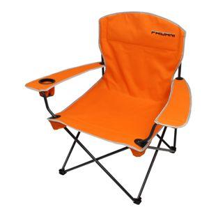 Fridani Campingstuhl FCO 90 Klappstuhl Orange Gartenstuhl mit Armlehnen & Getränkehalter Angelstuhl