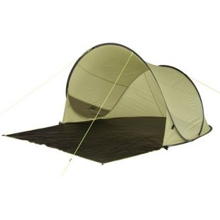 10T Pop-Up Strandmuschel Trinidad UV 80+ Strandzelt 3 Mann Sonnenschutz XL Familien Windschutz Zelt