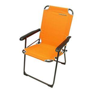 Fridani Campingstuhl GCO 920 Orange Klappstuhl mit Armlehnen max 110 kg bequem stabil klappbar