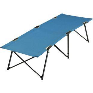 Fridani Feldbett TBB XL Campingbett Blau Reisebett ohne Querstreben bequeme Gartenliege Gästebett