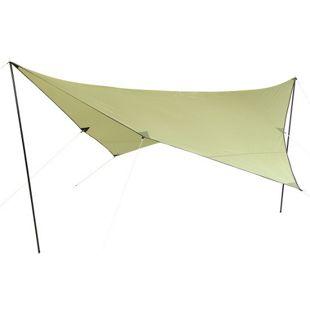 10T Tarp Beechnut 4x4 m Sonnensegel UV 80+ Sonnenschutz wasserdichtes Sonnendach Grün inkl. Zubehör