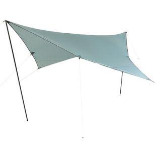 10T Tarp Arona 3x3 m Sonnensegel UV 80+ Sonnenschutz wasserdichtes Sonnendach Blau inkl. Zubehör