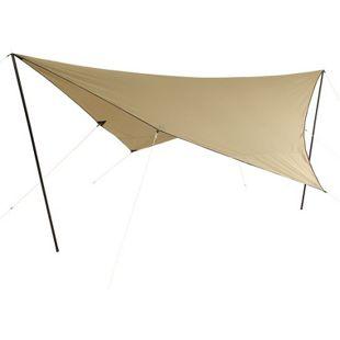10T Tarp T/C 4x4 m Sonnensegel UV 80+ Sonnenschutz wasserdichtes Sonnendach Baumwoll-Mischgewebe