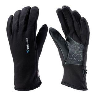 Trekmates Ullscarf S Handschuh Fingerhandschuh Damen Herren Fleece Lederbesatz
