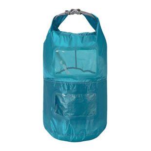 Trekmates Packsack 10L Seesack 2 Packfächer Packbeutel mit Sichtfenster Dry Bag