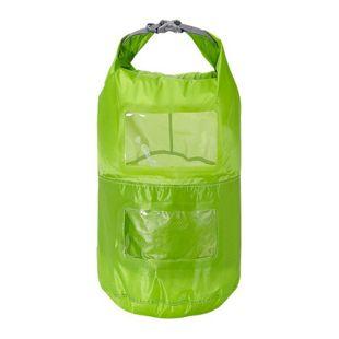 Trekmates Packsack 15L Seesack 2 Packfächer Packbeutel mit Sichtfenster Dry Bag