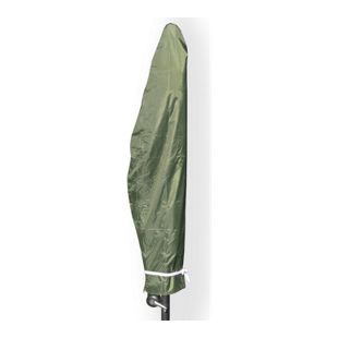 JOM Schutzhülle für Ampelschirm, Sonnenschirme, grün,bis 350 cm Durchmesser, incl. Reißverschluss , wetterfeste Sonnenschirmhülle