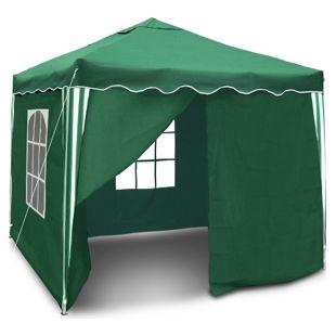 JOM Gartenpavillon, Wasserdicht,  Falt-Pavillon Bristol , mit Extra Beschichtung, mit Seitenwänden und Tasche, 3 x 3 m, Grün