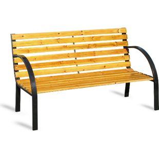 JOM Bank, Parkbank, Gartenbank, Sitzbank, 2-sitzer 123 cm breit, Holzbank
