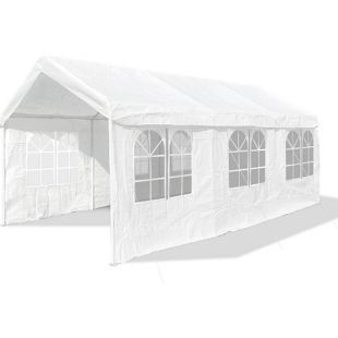 JOM Gartenpavillon XXL 3 x 6 m,Profi-Pavillon, Pavillion, Partyzelt, Festzelt, Gartenzelt, 38er Gestänge extra stabil