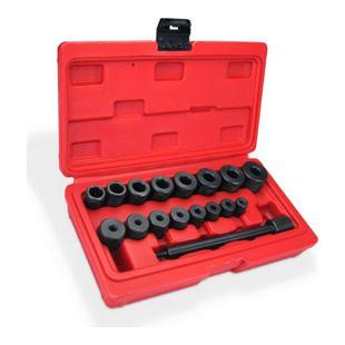JOM Kupplungs Zentrierwerkzeug -Set, 18-teilig aus Stahl im Koffer, 1 x Schlagdorn, 8 x Zentrierbuchsen und 8 x Endbuchsen