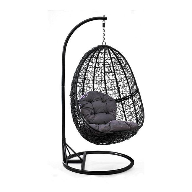 jom h ngesessel polyrattan mit gestell h ngestuhl h ngeschaukel h ngekorb inkl sitz und. Black Bedroom Furniture Sets. Home Design Ideas